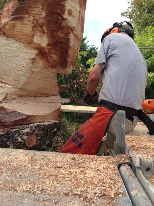Arbeit mit dem Hammer