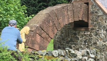 Ottilie at Andy Goldsworthy's Striding Arches